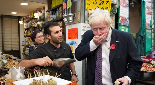 Boris Johnson on a previous visit to Israel