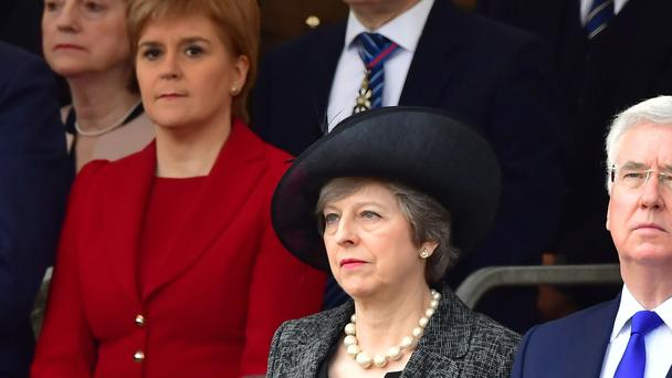 Scotland's First Minister Nicola Sturgeon and UK Prime Minister Theresa May