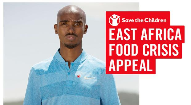 Sir Mo Farah who has backed a charity appeal to combat the drought in Somalia (handout/PA Wire)