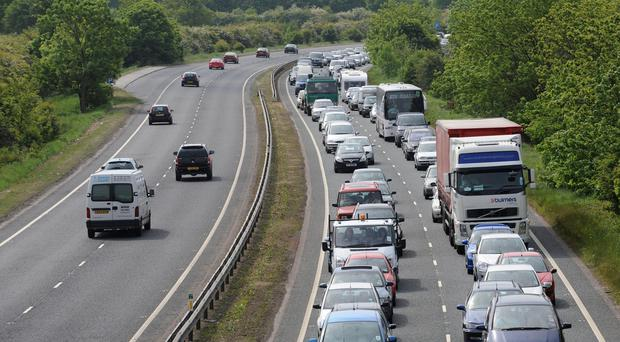 The incident took place on the A64