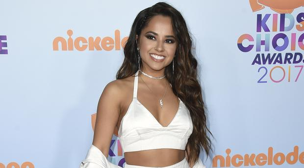 Power Ranger Trini, played by Becky G, pictured, has 'girlfriend problems' (Invision/AP)
