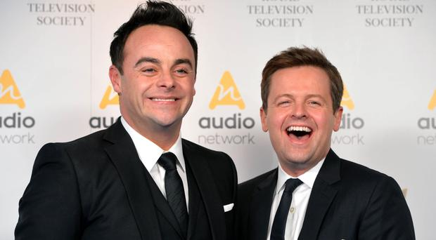 Ant and Dec received an RTS award for best entertainment