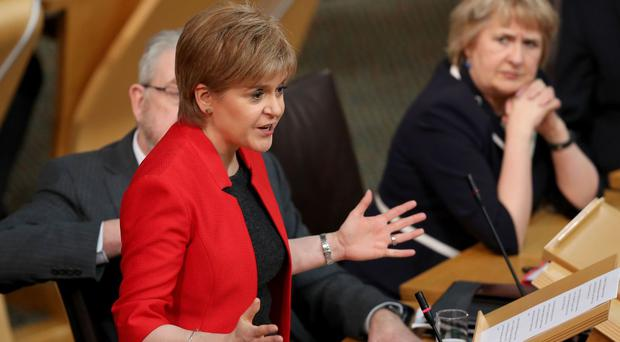 Nicola Sturgeon told MSPs it would be 'wrong, unfair and utterly unsustainable' for the UK Government to block her request