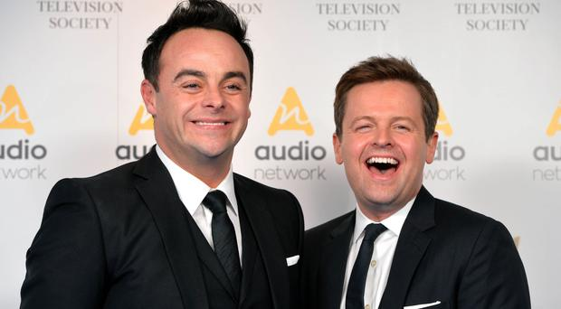 And and Dec emerge on the Britain's Got Talent stage in matching pairs of patriotic pants in a new teaser