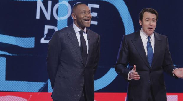 Sir Lenny Henry and Jonathan Ross paid tribute to those affected by the attack on Westminster (BBC/PA)