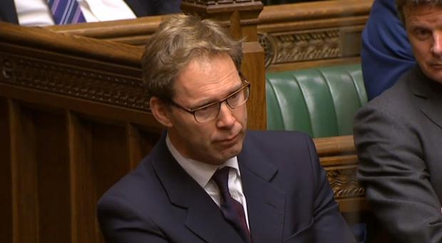 Conservative MP Tobias Ellwood in the Commons after the terror attack