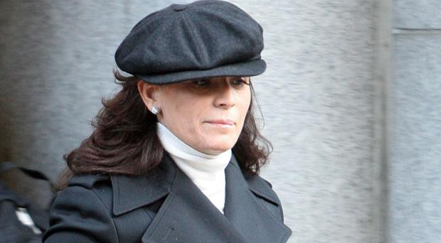 Ruth Adams leaves the Old Bailey after her husband Terry Adams was jailed for seven years