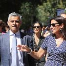 Sadiq Khan with Anne Hidalgo, the mayor of Paris on a previous visit to the French capital