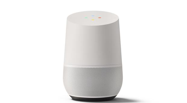 Google Home will launch in the UK on April 6 (Google/PA)