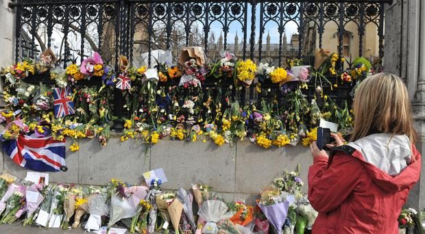 Tributes to the victims of the Westminster attack