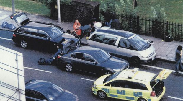 The aftermath of the police shooting in which Mark Duggan was killed