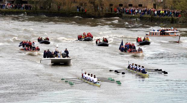 Thousands of people are expected to line the banks of the Thames to watch the 163rd edition of the Boat Race