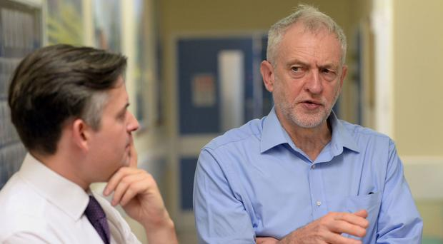 Jon Ashworth (left) indicated the local elections would represent a key test for Labour and its leader Jeremy Corbyn