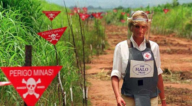 Diana, Princess of Wales sparked a major international row after saying that the sale of all landmines should be stopped