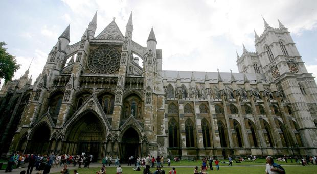 The service is taking place at Westminster Abbey