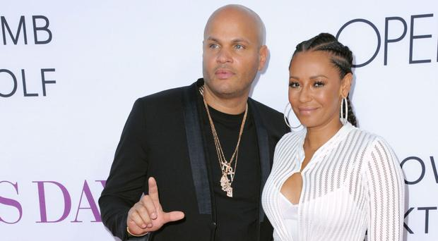Lawyers for Stephen Belafonte, pictured with Mel B last year, have described the former Spice Girl's claims of abuse as 'outrageous and unfounded' (Invision/AP)