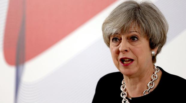 Prime Minister Theresa May was speaking during a visit to Nottinghamshire