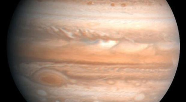 The Hubble telescope has captured an image of Jupiter