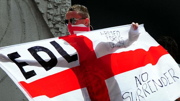 Woman in viral EDL protest photo 'not scared'