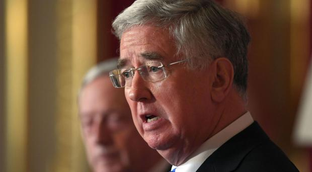 Defence Secretary Sir Michael Fallon will attend events in France