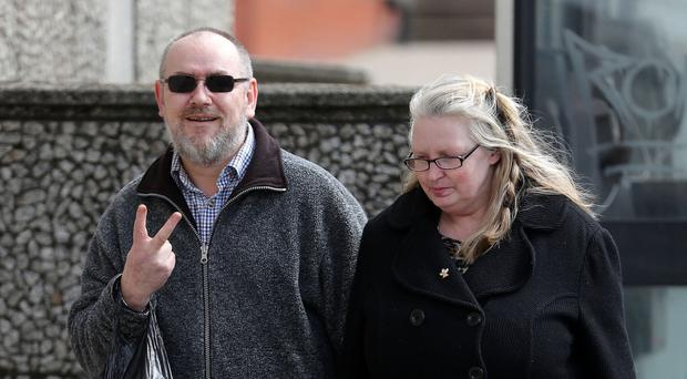 Mark Sands arrives at Brighton Magistrates' Court