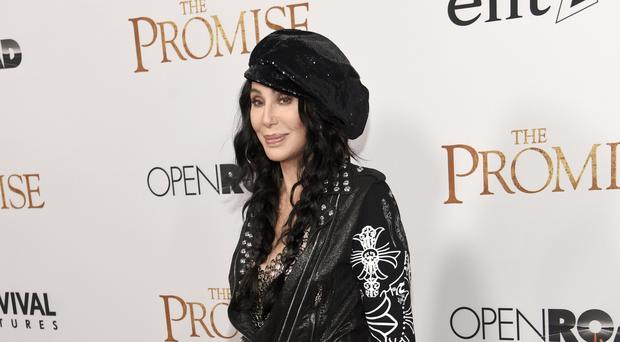Cher arrives at the US premiere of The Promise in Los Angeles (Photo by Chris Pizzello/Invision/AP)