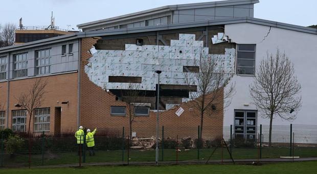 Seventeen schools in Edinburgh were shut temporarily last April following the collapse of a wall at Oxgangs Primary