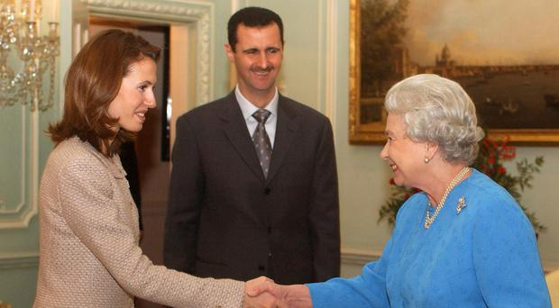 The Queen meeting Bashar and Asma Assad before the Syrian Civil War broke out