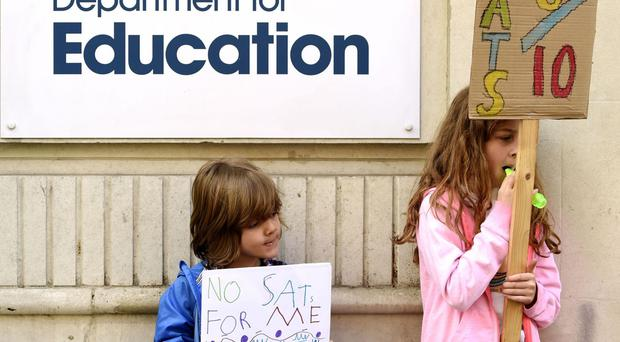 Young protesters show their opposition to Sats