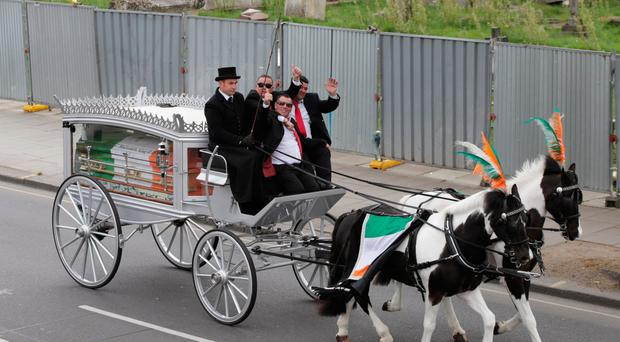 The funeral of Simon Doherty, father of My Big Fat Gypsy Wedding star Paddy