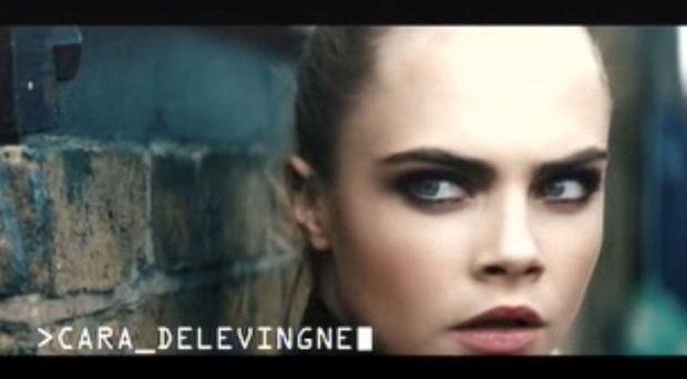 Screen grab from handout video issued by the Advertising Standards Agency of a Rimmel mascara ad featuring the model Cara Delevingne (ASA/PA)