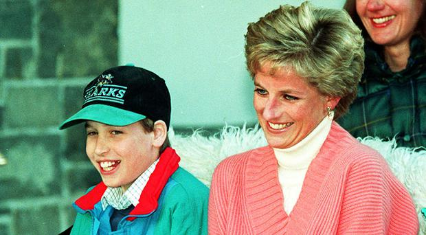 The Duke of Cambridge with his mother, Diana, Princess of Wales in 1994