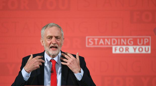 Labour leader Jeremy Corbyn speaks at an election campaign event in Church House, London.