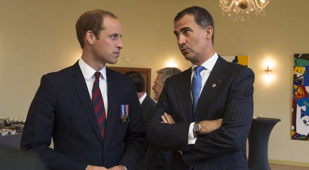 King Felipe VI of Spain with the Duke of Cambridge