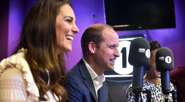The Duke and Duchess of Cambridge visiting BBC Radio 1