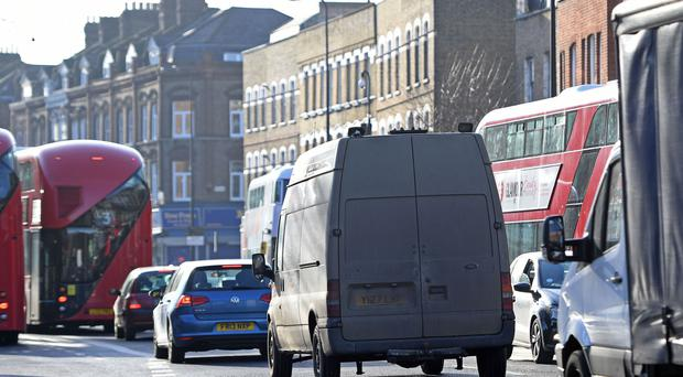 File photo dated 06/01/17 of traffic on Brixton Road in Lambeth, London