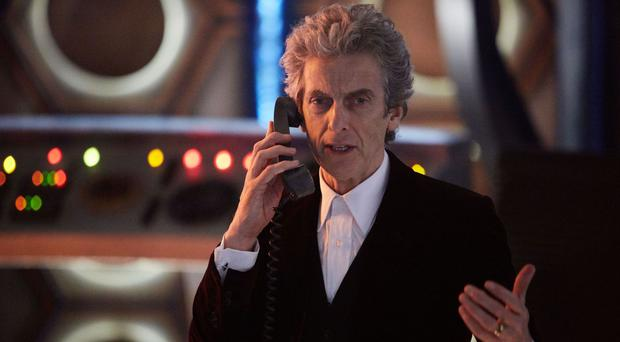 Peter Capaldi, who plays Doctor Who, joined the march in London