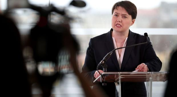 A survey shows 33% of Scots backing Ruth Davidson's party in general election voting intentions