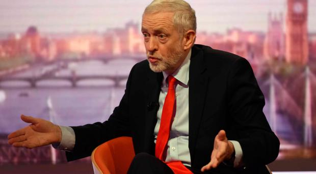 Jeremy Corbyn on Andrew Marr Show yesterday