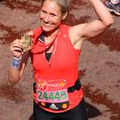 BBC's Sophie Raworth celebrates her medal