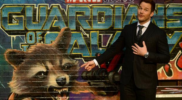 Chris Pratt at the Guardians of the Galaxy Vol. 2 premiere in London