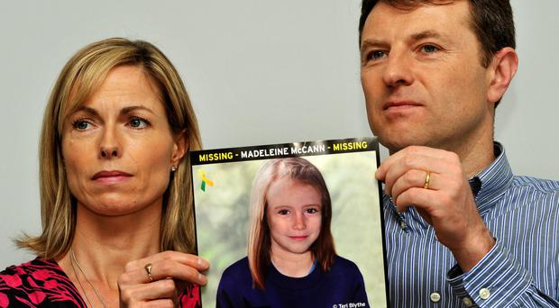 Gerry and Kate McCann, whose daughter Madeleine disappeared from a holiday flat in Portugal on May 3, 2007. Mrs McCann has described the tenth anniversary of her daughter's disappearance as a