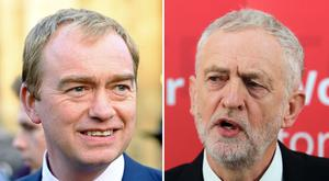Liberal Democrat leader Tim Farron (left) and Labour leader Jeremy Corbyn (PA)