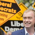 Liberal Democrat leader Tim Farron on the campaign trail