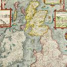 A hand-coloured map by Briton John Speed dating from the 17th century, showing the provinces of Ireland and map of Great Britain, as two rare 17th-century wall maps are to come up for sale and together could fetch more than £250,000, according to Sotheby's auctioneers (Sotheby's/PA)
