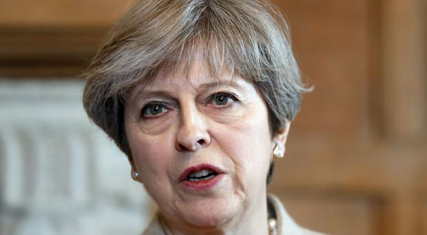 Prime Minister Theresa May speaks