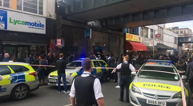The scene in Peckham Rye where a man was stabbed to death.