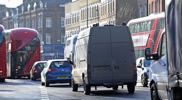 Traffic on Brixton Road in Lambeth, London (Victoria Jones/PA)