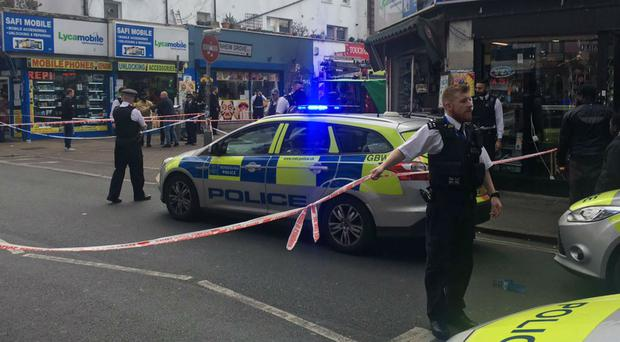 The scene of the stabbing in Peckham Rye (Chad O'Carroll/PA)