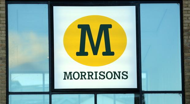 Signage at a Morrisons supermarket at Cambourne in Cambridgeshire